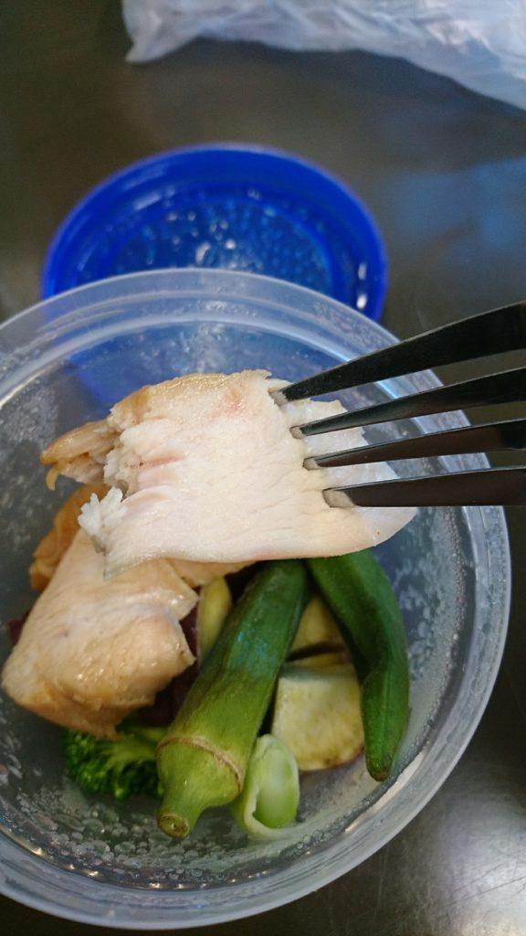 低温調理器で作った鶏肉